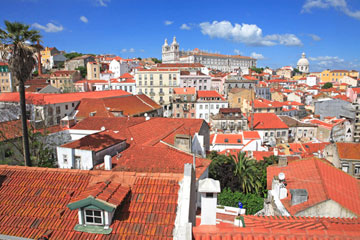 Portugal, Lisbon, Roof tops, Alfama for AA Publishing © Monica Wells Photography 2020